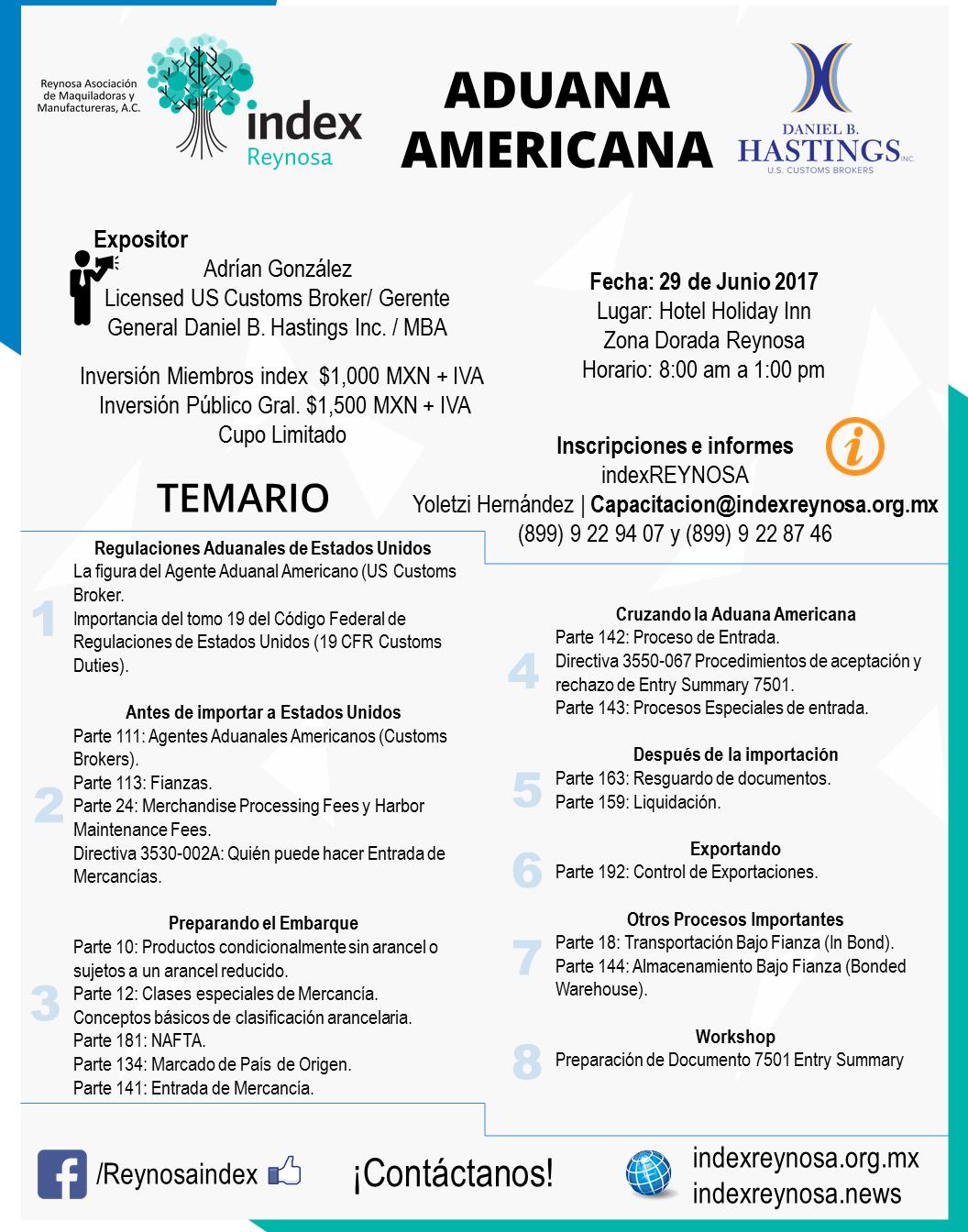 Curso de Regulaciones Aduanales Flyer